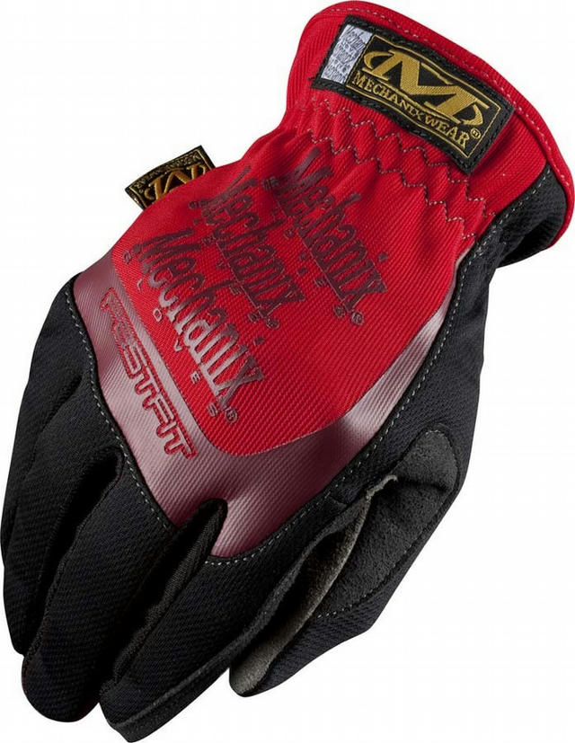 Fast Fit Gloves Red Lrg