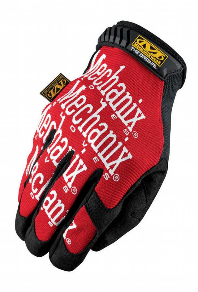 Mech Gloves Red Med