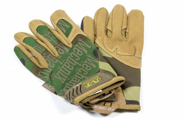 Mech Glove Woodland Camo Large