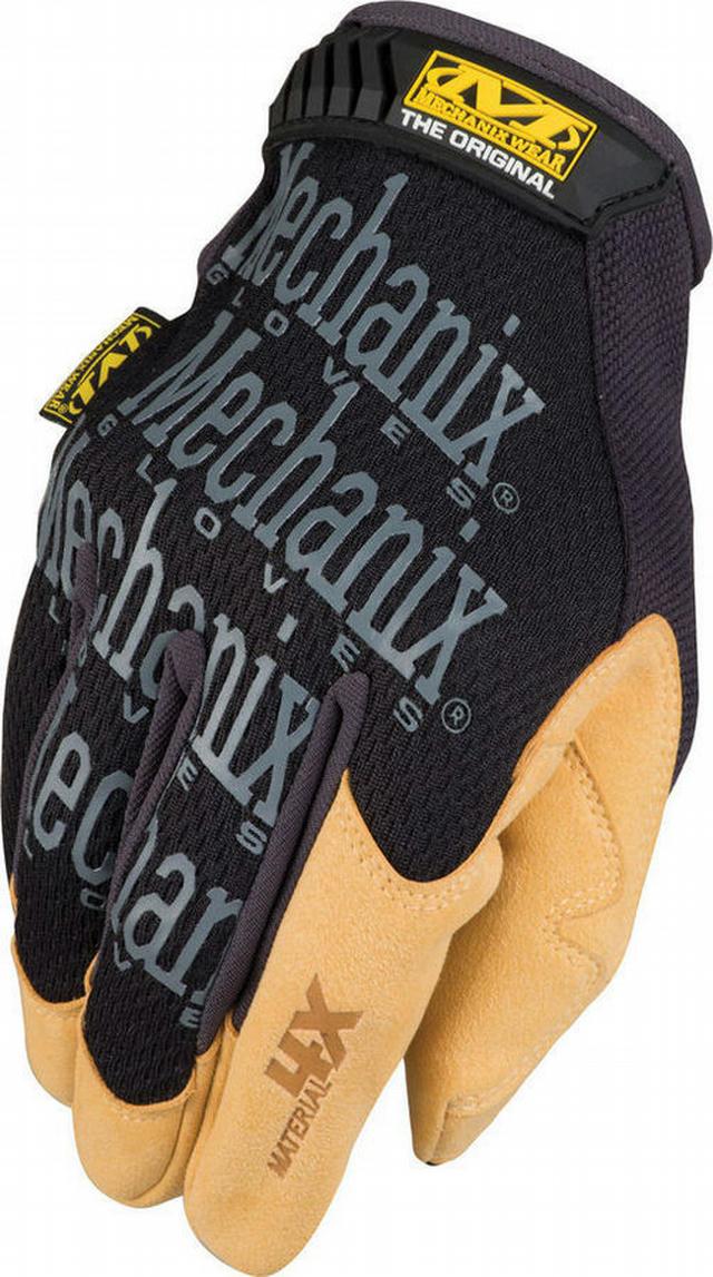 Glove Material 4X Org. Black / Tan Medium