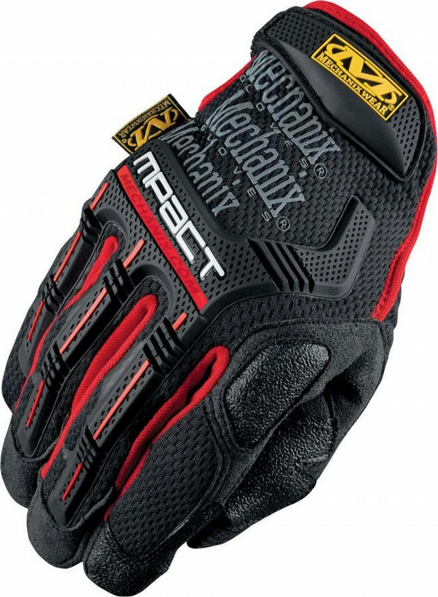 M-pact Gloves Red Med