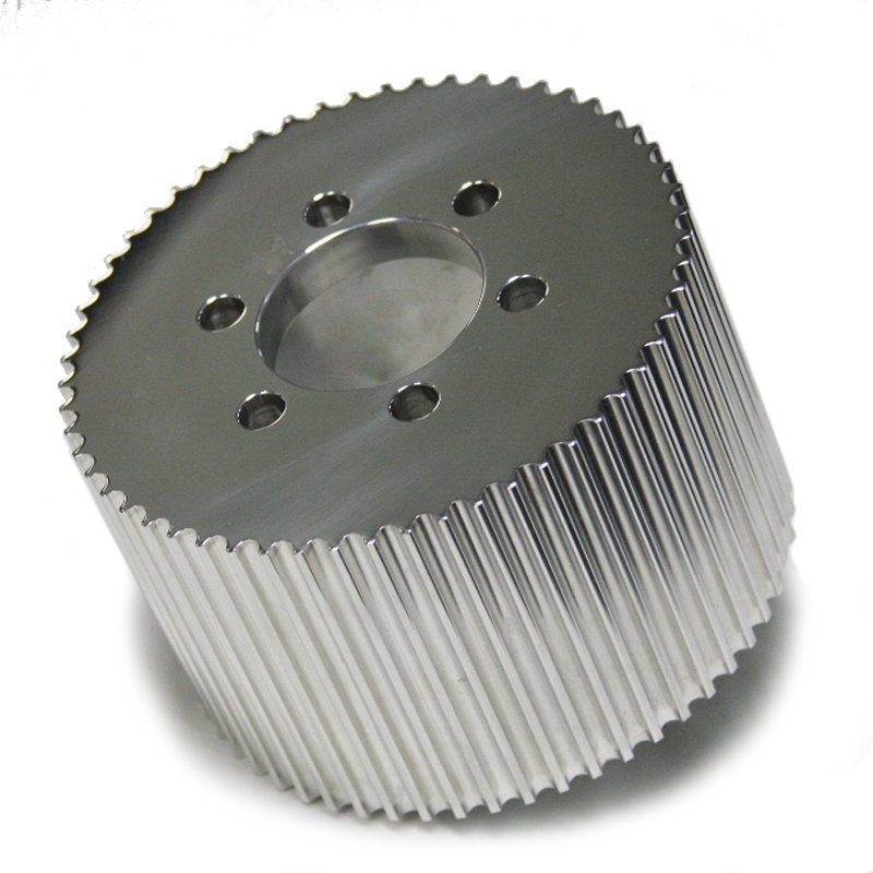 Blower Pulley 8mm x 3.5 50-Tooth Polished