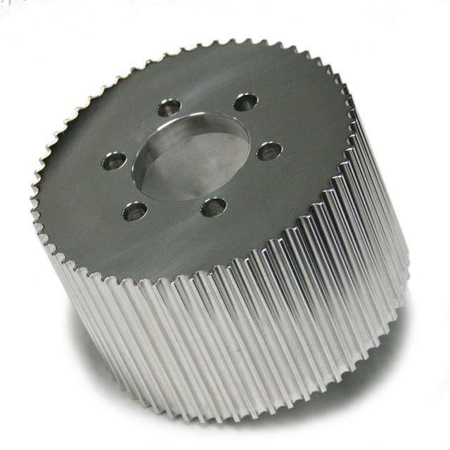 Blower Pulley 8mm x 3.5 55-Tooth Polished