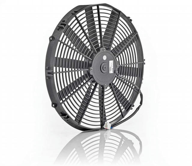 16in Euro Black Thin Lin e Electric Puller Fan