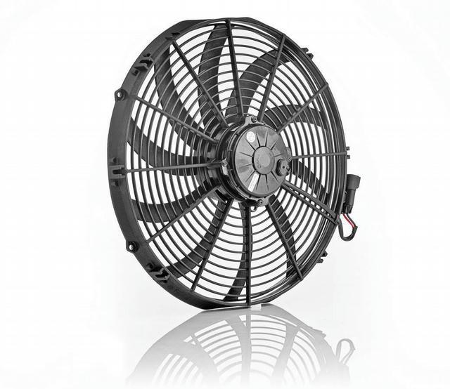 16in Euro Black Electric Fan Super Duty Puller