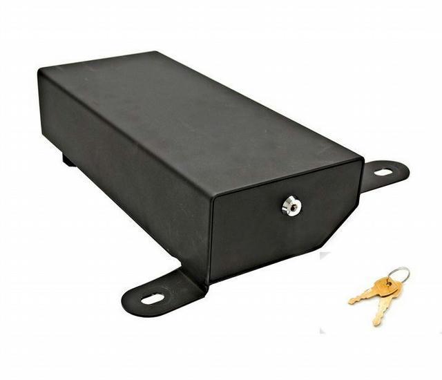 Black-Underseat Lock Box Passenger side