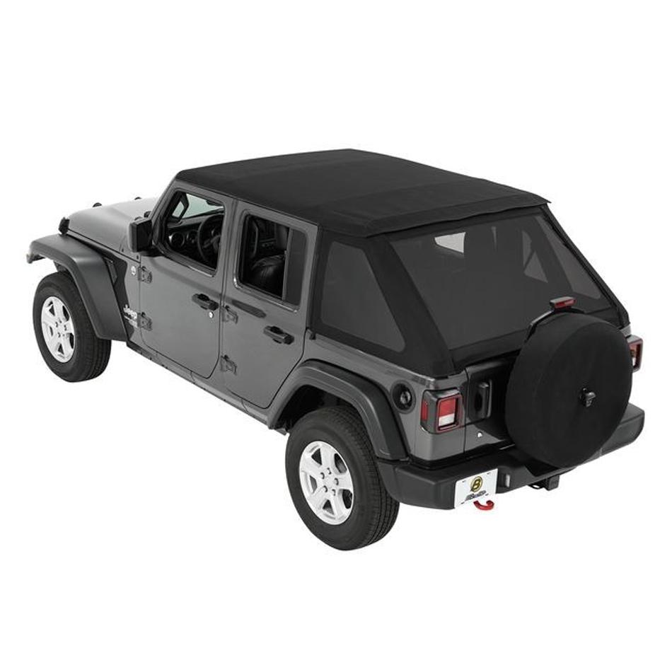 Trektop Soft Top Black Twill 18-   Jeep JL