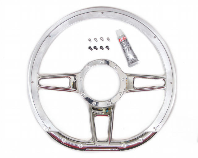 Steering Wheel Formula D-Shaped 14in Polished