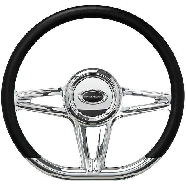 Steering Wheel 14in D-Shape Victory Polished