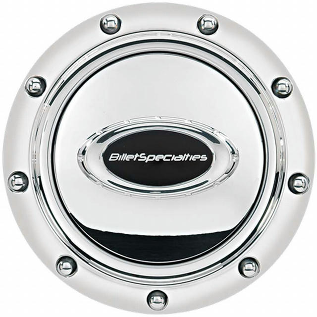 Horn Button Riveted Polished w/Black Logo