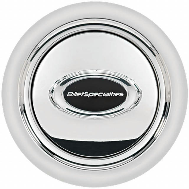 Horn Button Smooth Polished w/Black Logo