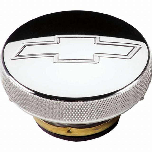 Polished Radiator Cap Chevy Logo 16lb.