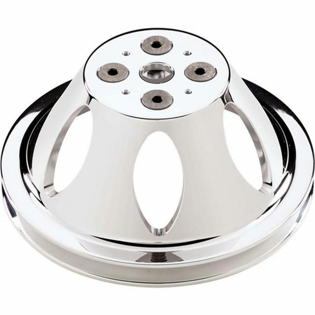Polished SBC 1 Groove Upper Pulley