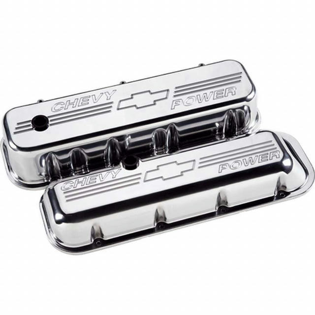BBC Tall Chevy Power Valve Covers Polished