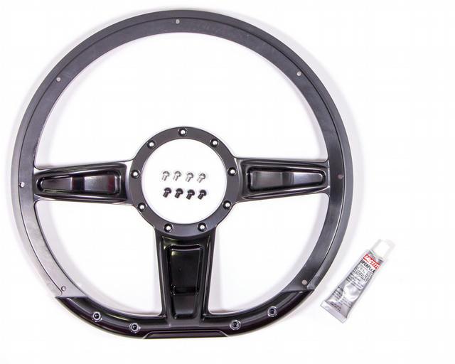 Steering Wheel Camber D-Shaped 14in Black