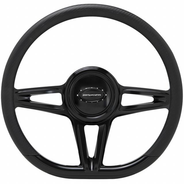 Steering Wheel 14in D-Shape Victory Black