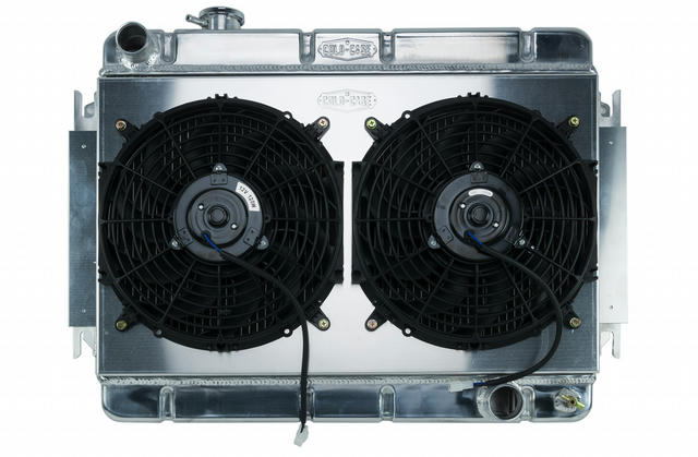 66-67 Chevelle Radiator & Dual 12in Fan Kit AT