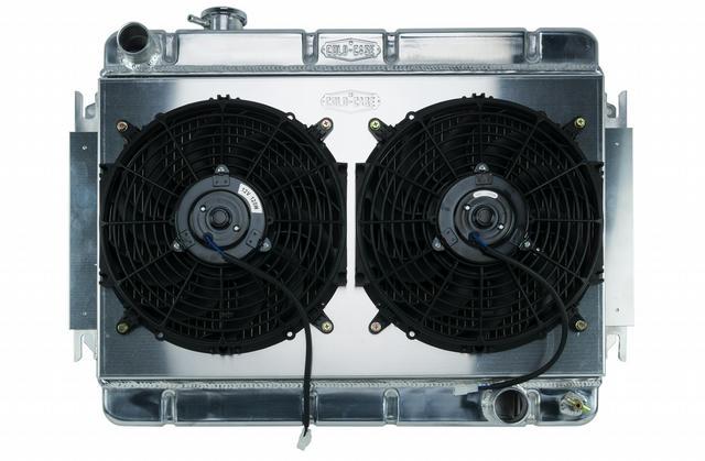66-67 Chevelle Radiator & Dual 12in Fan Kit MT