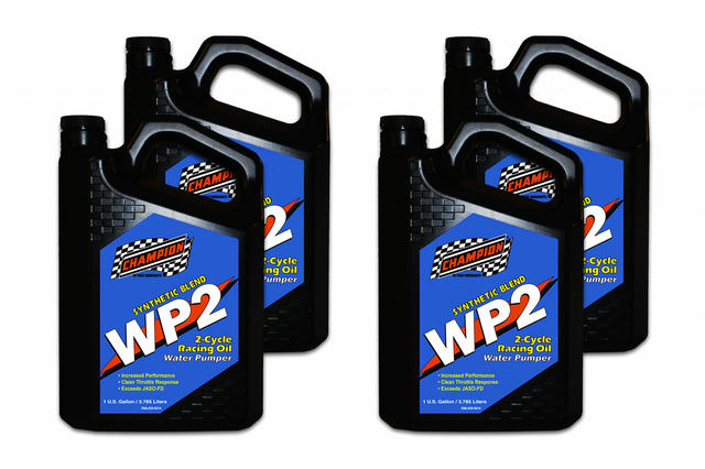 WP2 2 Cycle Racing Oil JASO FD Case 4 x 1Gallon