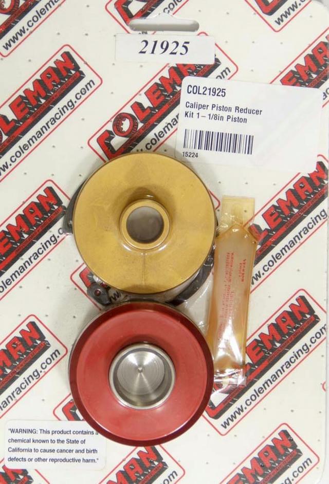 Caliper Piston Reducer Kit 1-1/8in Piston