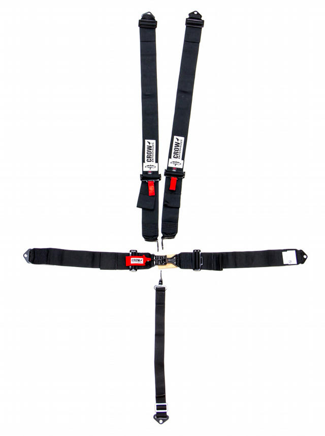 5-Pt Harness Small Latch Blk Bolt In BLK Hardware