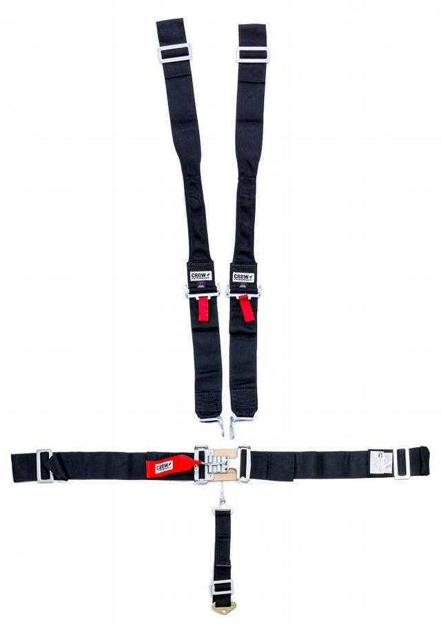 5-Pt Harness Big Latch Blk Hans Wrap Around Pul