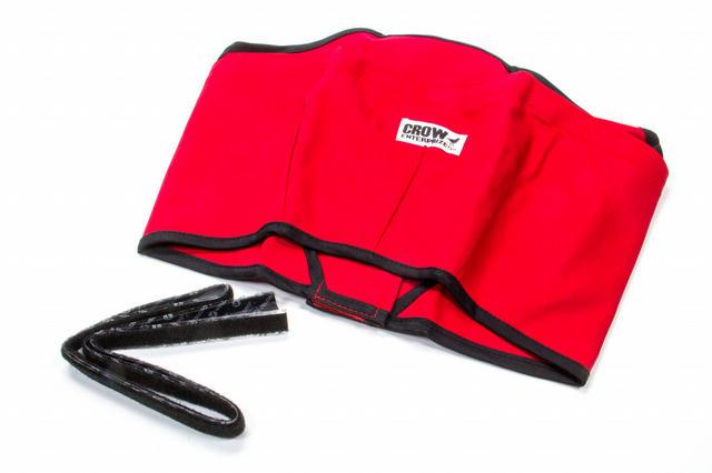Helmet Skirt Red Velcro Attachment