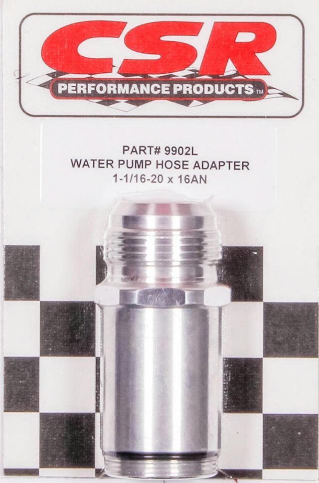 Water Pump Hose Adapter - 1-1/16 x 16an