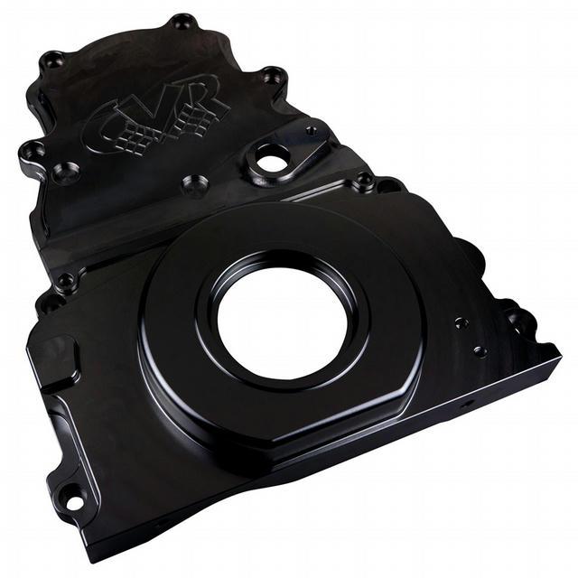 GM LS Billet Timing Cover 2-Piece Black