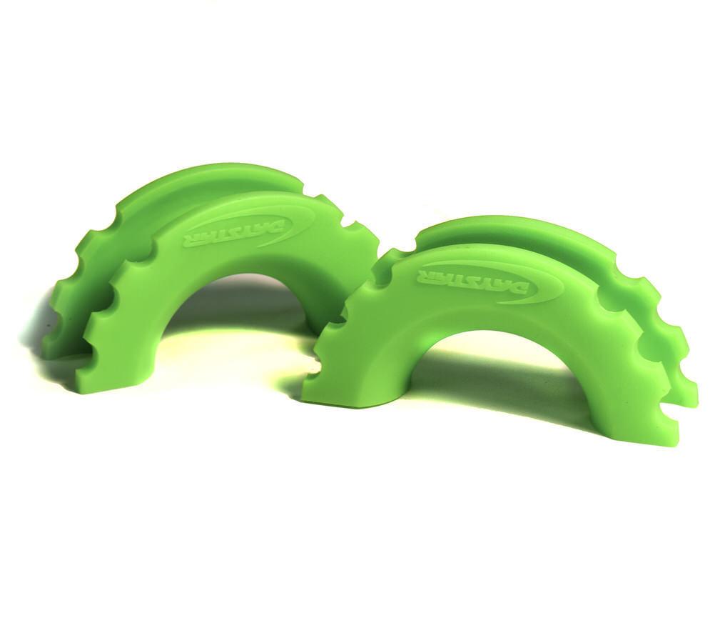 D-Ring/Shackle Isolator Fluorescent Green Pair