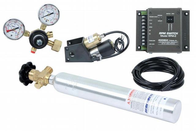CO2 Shifter & Bottle Kit - 3spd. Reverse Pattern