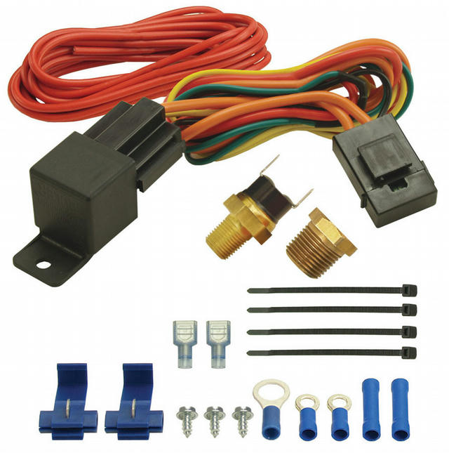 190F Fan Switch Thermost at Relay Kit 1/8in & 3/8