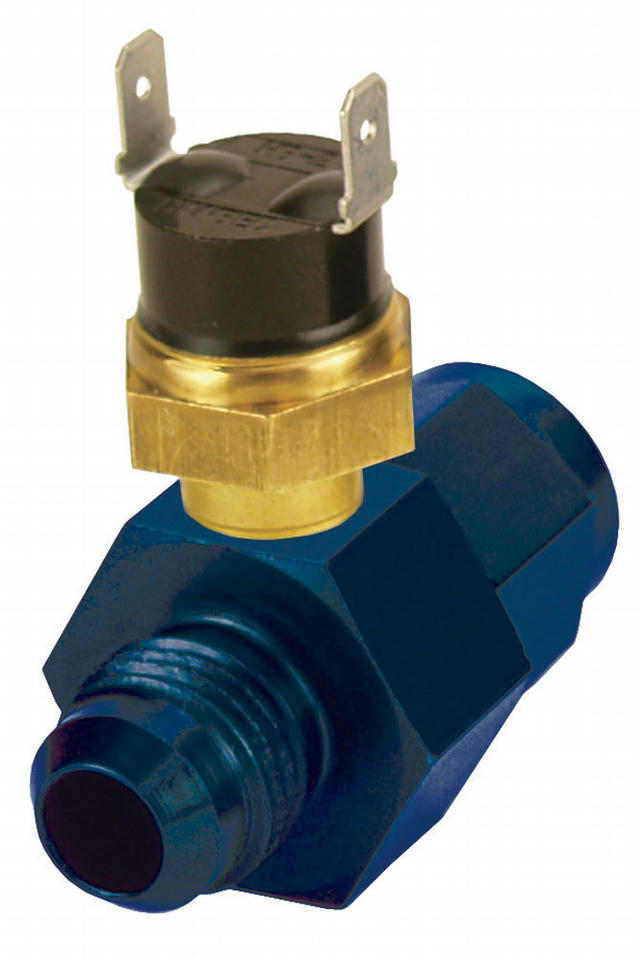 In-Line Fluid Thermostat 6an 180 Degree