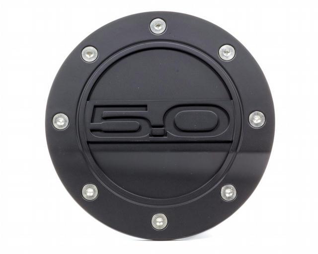 Fuel Door 5.0 Black 15- Mustang