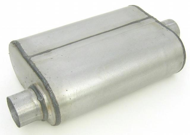 Dual Chamber Muffler 2.50in Offset/Center