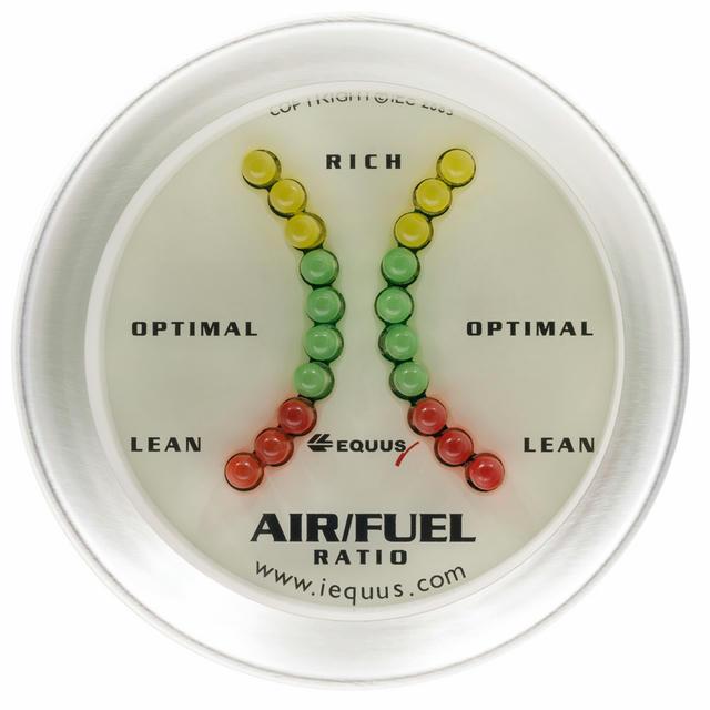 2.0 Air/Fuel Ratio Gauge Lean-Rich Silver