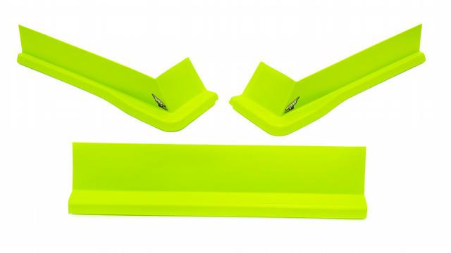 Modified Aero Valance 3pc. Fluorescent Green