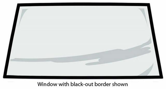 88 Monte Rear Window Flat .093 Uncoated
