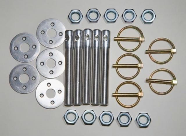 Hood Pin Kit 1/2in Alum