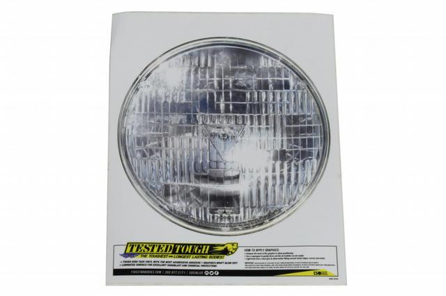 Univer. Headlight Decal 7.25in Diameter