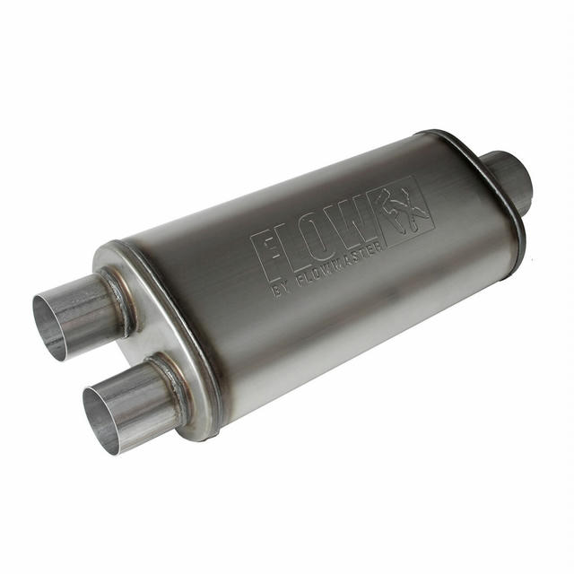 FlowFXMuffler 3.5in Cntr In / 2.5in Dual Out