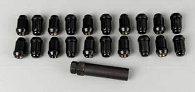20 Lug Nuts 12mm x 1.50 Small Diameter Black Chm