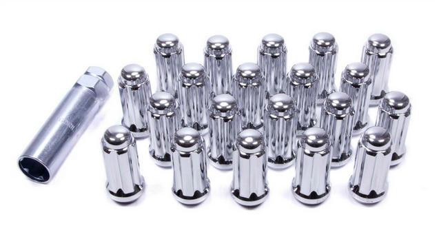 14mm x 2.0 5 Lug Kit Chrome