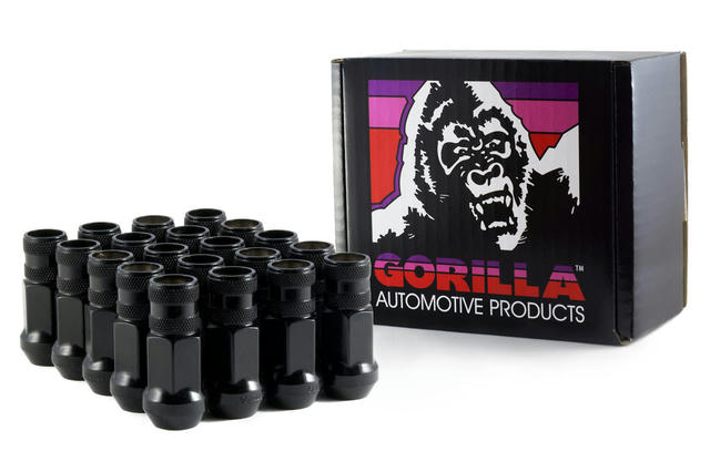 20 Lugnuts 12mm x 1.50 Black Chrome Open End