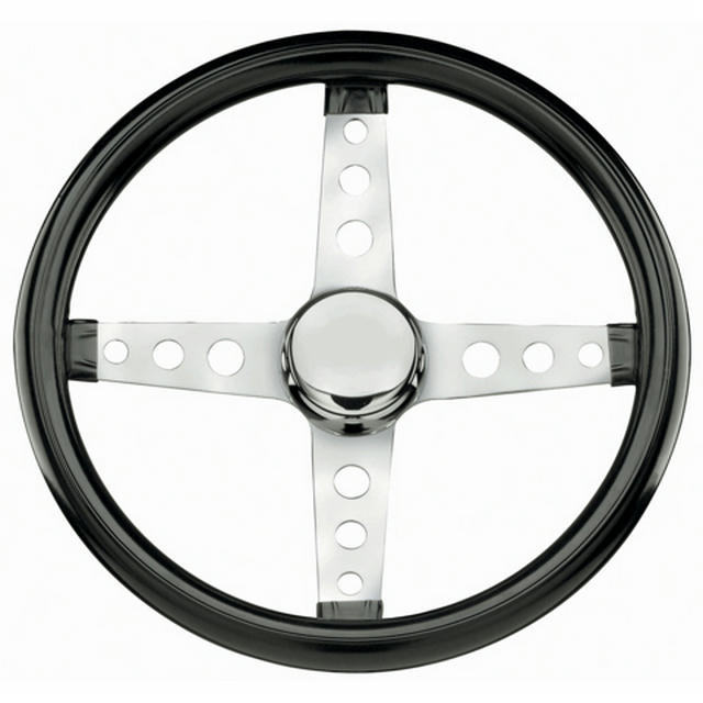 Classic Steering Wheel Black Vinyl