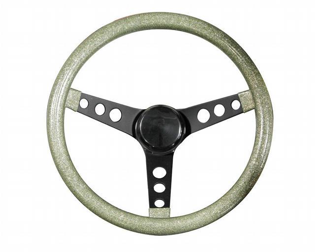 Steering Wheel Mtl Flake Silver /Spoke Blk 13.5