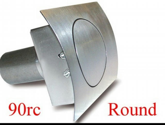 Round Fuel Door  Curved Surfaces