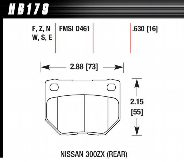Street Brake Pads Rear Nissan 300ZX HPS