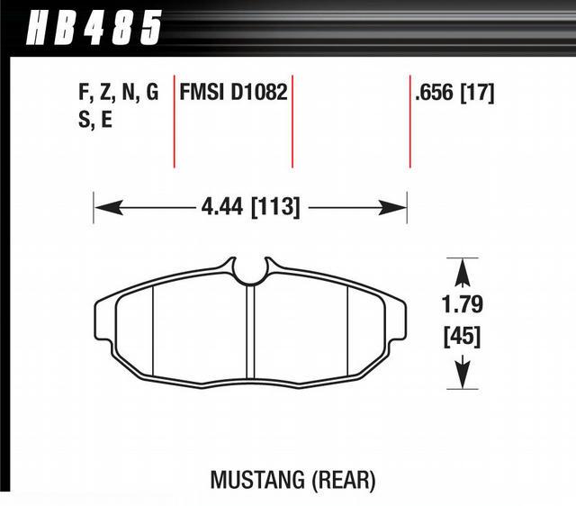 Brake Pad Set 05 Mustang Rear DTC70