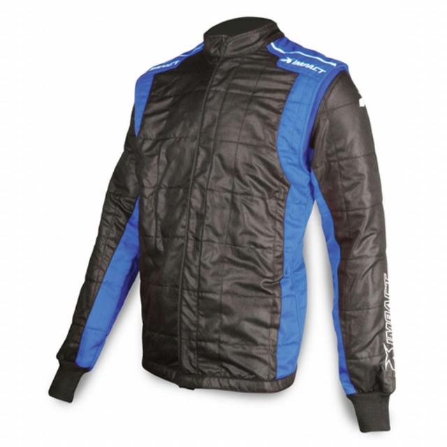 Jacket Racer Large Black/Blue
